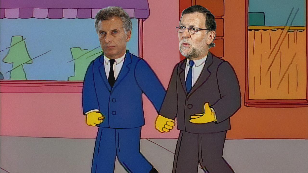 Resultado de imagen de fotos de Rajoy y Macri