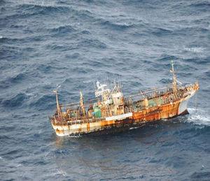 Avistan barco japonés arrastrado por tsunami de 2011, frente a la costa oeste de Canadá Barco_tr