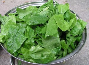Alimentos con Vitamina C Espinaca