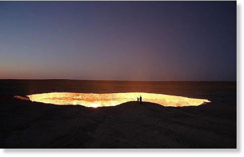 agujero en desierto de Karakum1