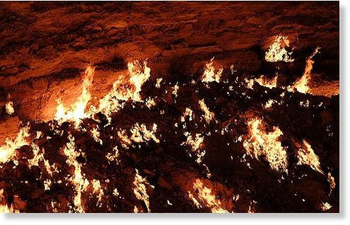 agujero en desierto de Karakum2