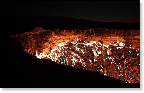 agujero en desierto de Karakum4