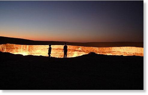 agujero en desierto de Karakum5