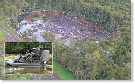 gigante agujero en Louisiana