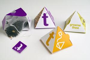 Bolsa de té pirámides