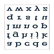 letras invertidas