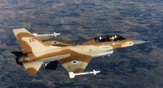 Israeli F-16 fightet jet