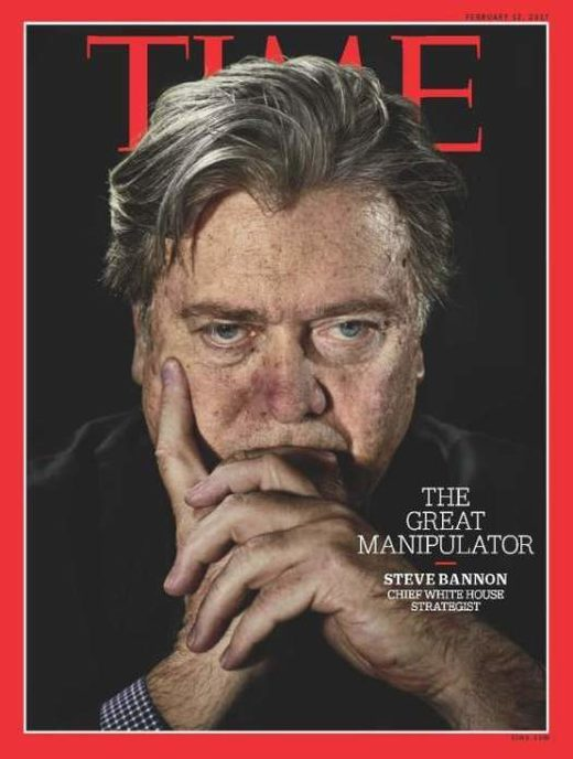 Stephen Bannon of Breitbart News, in a Machiavellian stare.