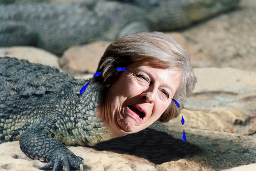 theresa may cocodrile