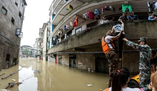 China Floods inundaciones