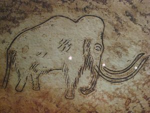 Mammoth painting in Rouffignac cave