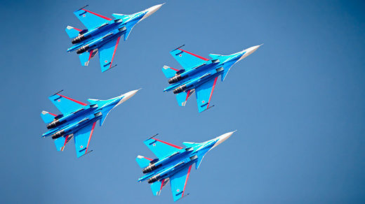 Russian Knights jets