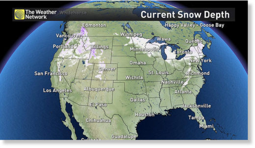 Snow cover as of Dec. 13