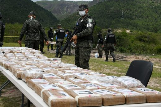 Honduras cocaine drug dealers narcotraffic