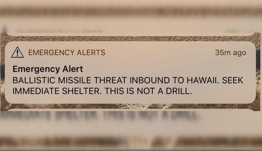 false emergency alert Hawaii