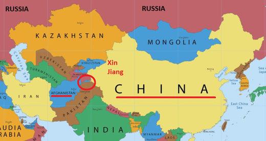 china y afganistán mapa