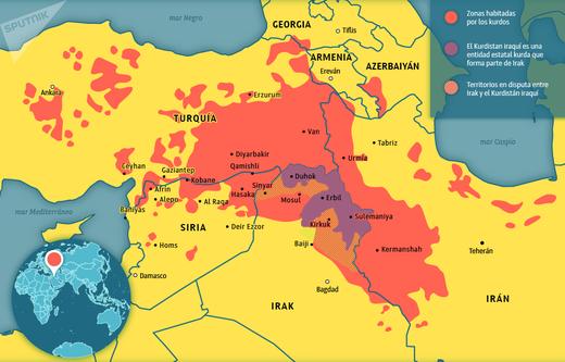mapa kurdistán siria
