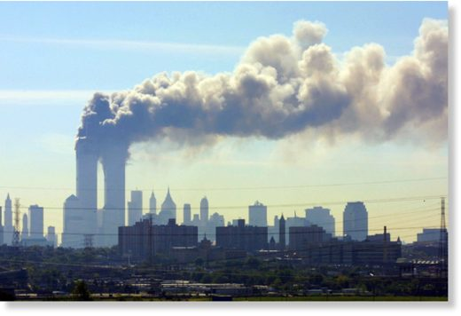 smoke rising WTC towers