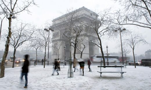 paris snow