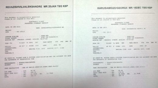 Nergadze Revazishvili plane tickets Maidan