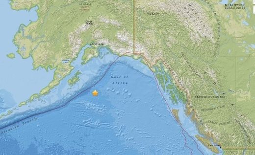 El sismo de Alaska.