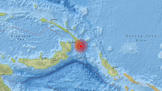 earthquake sismo paupa new guinea