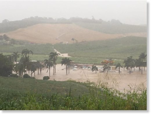Floods and landslides in Martinique, 16 April 2018.