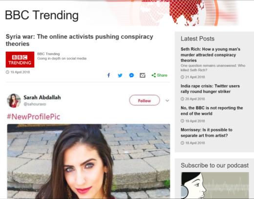 sarah abdallah russian bot propaganda