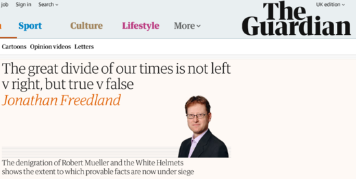 Jonathan Freedland propaganda Guardian