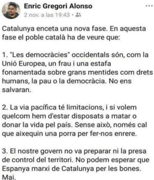 separatismo,Gregori Alonso