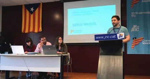 Sergi Miquel, secretario general de la JNC, cierra la convención en la que han solicitado un ejercito para la república catalana / JNC