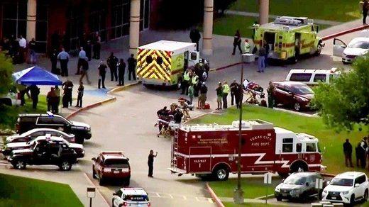 La policía respondió al reporte de un tiroteo en una escuela en Santa Fe, Texas.
