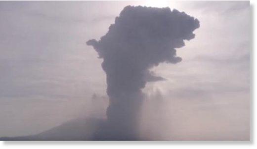 Sakurajima volcano, on Kyushu island in southern Japan, erupted on June 16, blasting smoke thousands of meters into the air, according to Japanese Media.