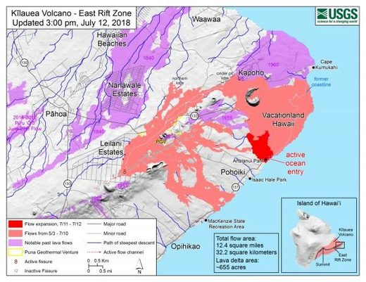 map kilauea