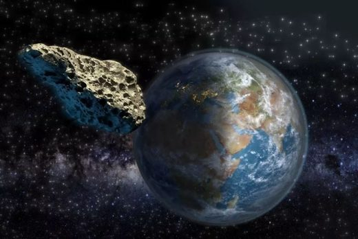Artist rendering of an asteroid