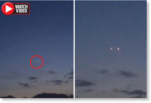 People in China saw the two lights changing places, sparking theories they were UFOs