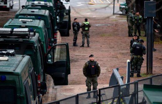 Vigilancia policiaca en Argentina,israelíes