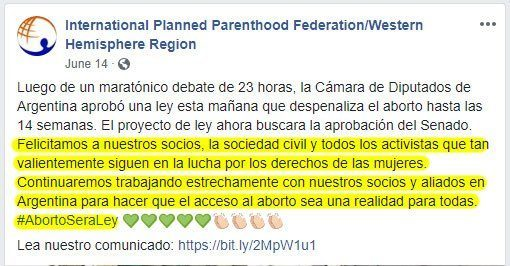 Argentina,Planned Parenthood,ley aborto