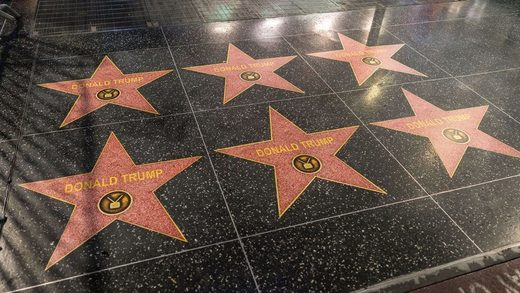 Trump star hollywood