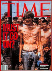 Fake death camp in Bosnia - Time cover