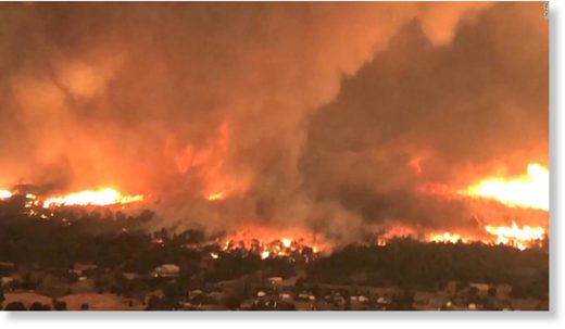 wildfire,incendio California