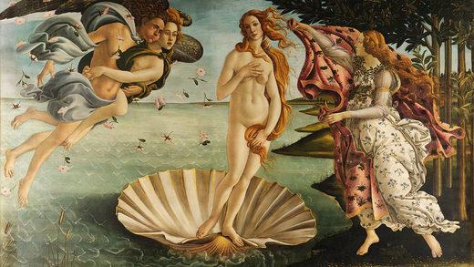 El nacimiento de Venus, de Sandro Botticelli.