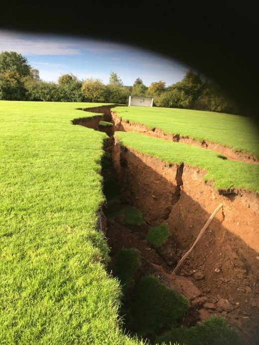 sinkhole ireland school