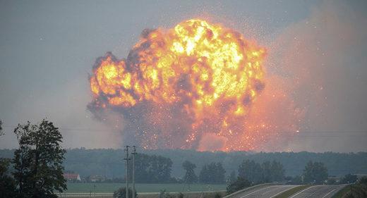 explosión depósito municiones Ucrnaia