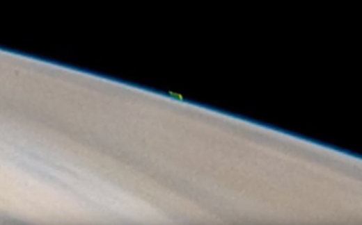 mysterious green image above jupiter