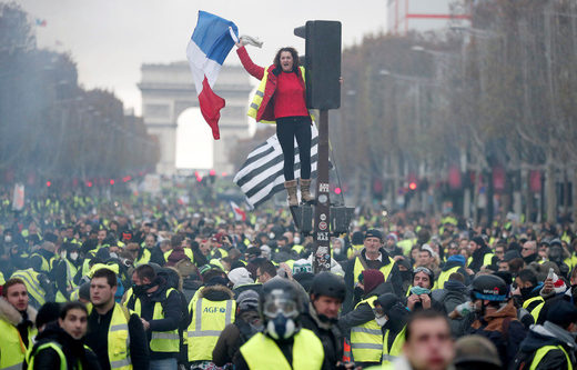 Protest in Paris