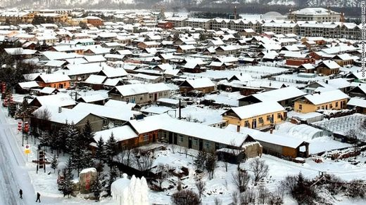The Chinese city of Mohe witnessed ice fog after temperatures plunged below minus 40 degrees Celsius.