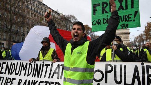 paris protests frexit