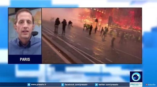 joe quinn presstv paris protests