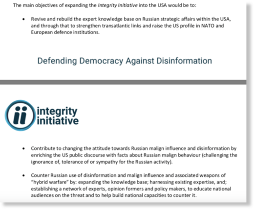 Integrity Initiative document